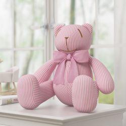 Urso Gravata Rosa Nina e o Balão 34cm