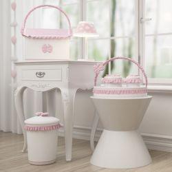 Kit Higiene Nuvem e Lacinho Listrado Rosa