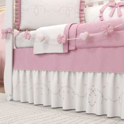 Varal Decorativo Alice Rosa 1,30m
