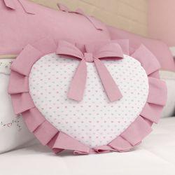 Almofada Coração Alice Rosa Estampada 29cm