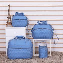 Conjunto de Bolsas Maternidade Zapt Azul