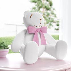 Ursa Laço Rosa 34cm