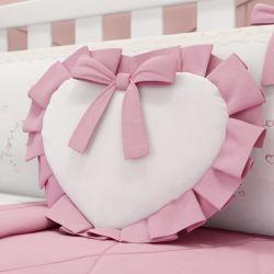 Almofada Coração Alice Rosa