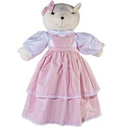 Porta Fraldas Urso Bambini Rosa