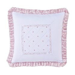 Almofada Drapeada Arabesco Rosé 42cm