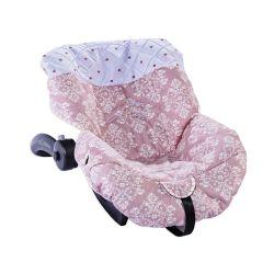 Capa de Bebê Conforto Arabesco Rosé