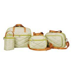 Conjunto de Bolsas Maternidade Esmeralda