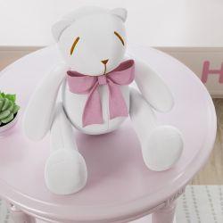 Ursa Laço Rosa 25cm