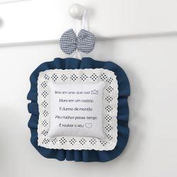 Porta Maternidade Ursinho Clássico Marinho