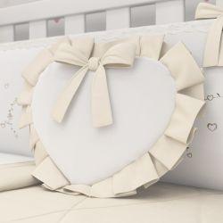 Almofada Coração Alice Bege 29cm
