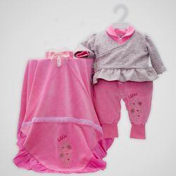 Saída Maternidade Plush Love Pink