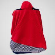Saída Maternidade Suedine Urso Vermelho  708d1c4af2b