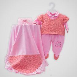Saída Maternidade Plush Fofura da Mamãe Rosé