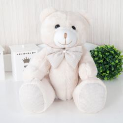 Ursa Xadrez Bege 30cm