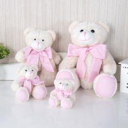 Família Ursos Xadrez Rosa