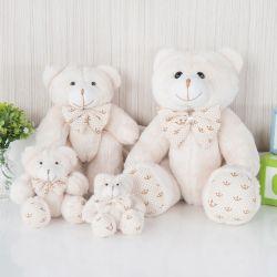Família Ursos Realeza Bege