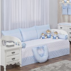 Kit Cama Babá Zigue-Zague Azul