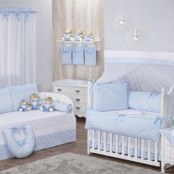 Quarto de Bebê Zigue-Zague Azul
