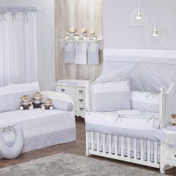 Quarto de Bebê Zigue-Zague Cinza