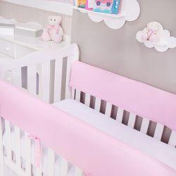 Protetor de Grade para Berço Rosa Bebê