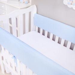 Protetor de Grade para Berço Azul Bebê