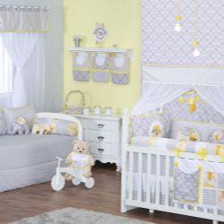 Quarto de Bebê Elefantinho Amarelo