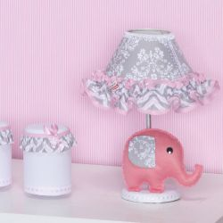 Abajur Elefantinho Rosa