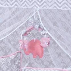 Móbile Elefantinho Rosa