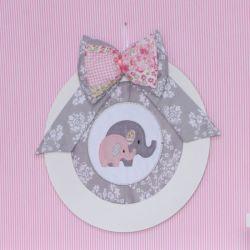 Porta Maternidade Elefantinho Rosa