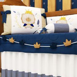 Varal Decorativo Reizinho da Floresta Azul Marinho 1,30m