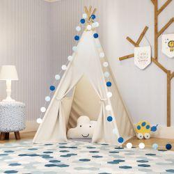 Cabana Quarto de Bebê Reizinho da Floresta Azul Marinho
