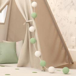 Varal Decorativo Bolinhas Verde 3m