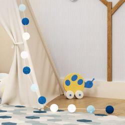 Varal Decorativo Bolinhas Azul Marinho 3m