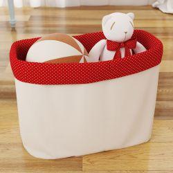 Cesto Organizador para Brinquedos Chapeuzinho Vermelho 35cm