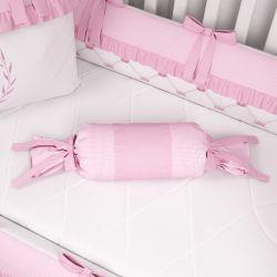 Almofada Apoio Bala Ursinha Clássica Rosa 60cm