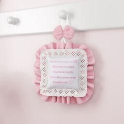 Porta Maternidade Ursinha Clássica Rosa