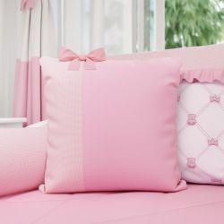 Almofada Laço Ursinha Clássica Rosa 38cm