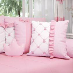 Almofadas Ursinha Clássica Rosa 3 Peças