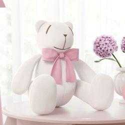 Urso Ursinha Clássica Rosa 34cm