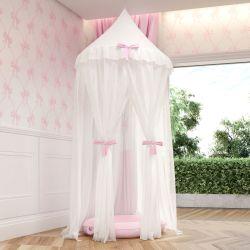 Tenda Dossel Ursinha Clássica Rosa