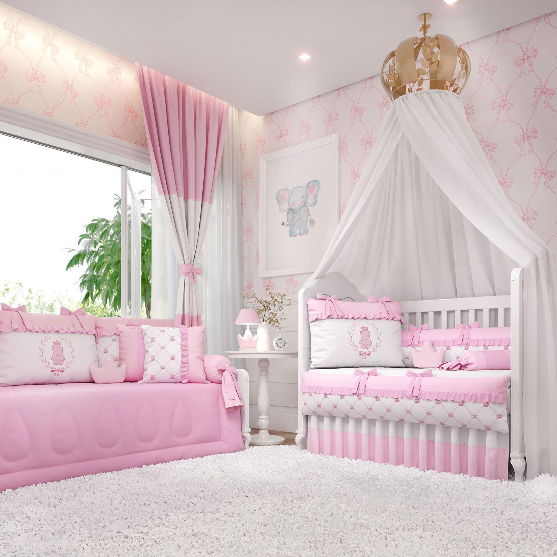 Quarto de Bebê Ursinha Clássica Rosa
