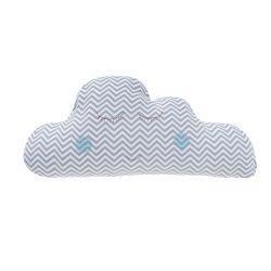Almofada Nuvem Chevron Azul 65cm