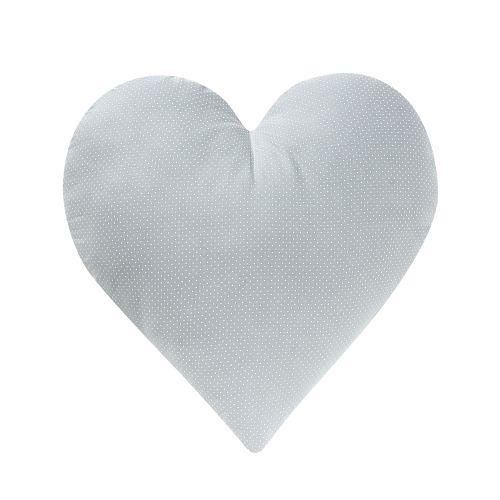 Almofada Coração Cinza Poá