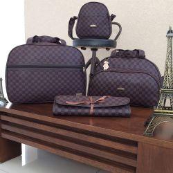 Conjunto de Bolsas Maternidade Paris Marrom