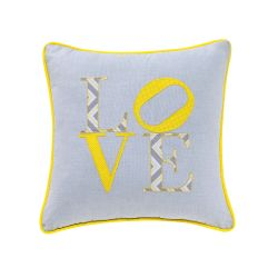 Almofada Love Amarela 32cm