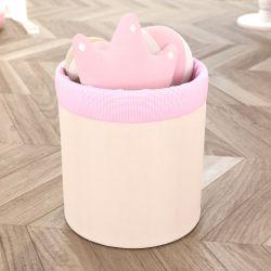 Cesto Organizador para Brinquedos Ursinha Clássica Rosa 35cm
