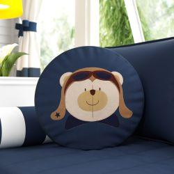 Almofada Redonda Urso Aviador
