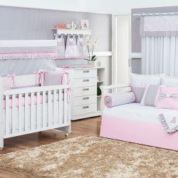 Quarto de Bebê Rosa Chevron