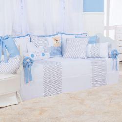 Kit Cama Babá Urso Anjinho Azul