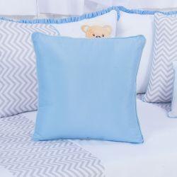 Almofada Quadrada Urso Anjinho Azul